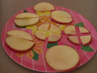Waldorf ~ 4th grade ~ Math ~ Fractions ~ with apples