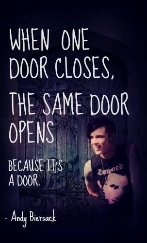 When one door closes, the same door (can be) opens (opened). Because it's a door!