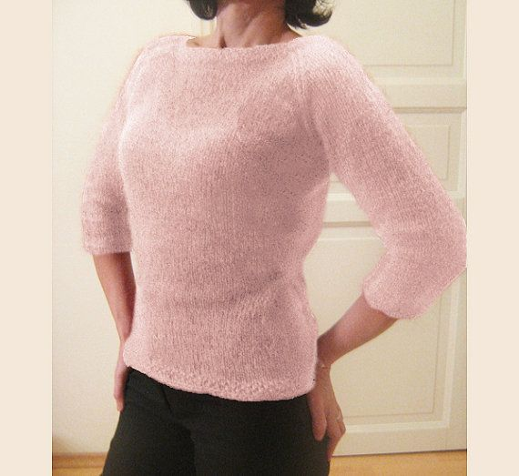 Custom made handgestrickte Mohair Pullover von INgift auf Etsy