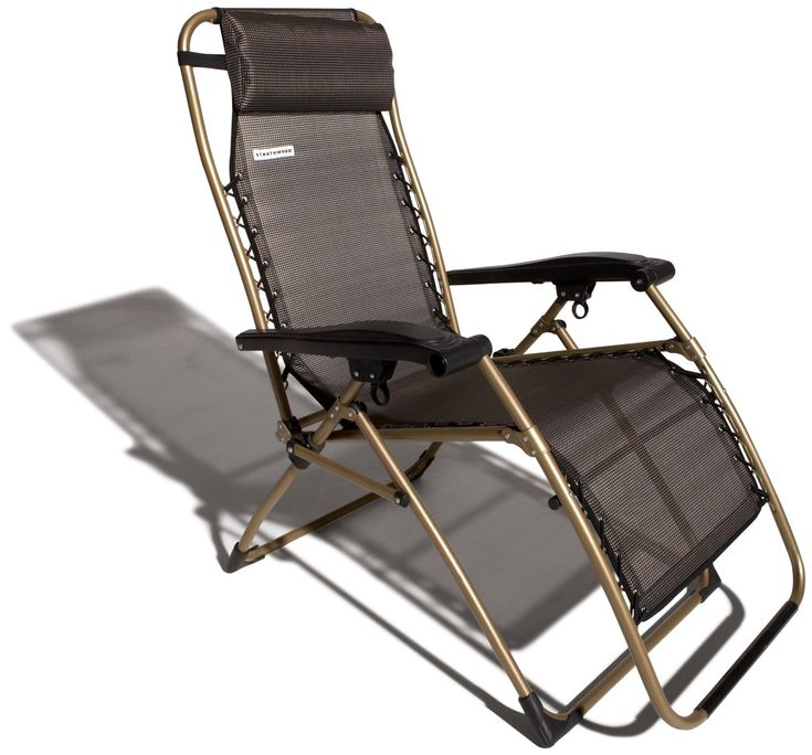 Strathwood Basics Anti Gravity Adjustable Recliner Chair Dark Brown With  Champagne Frame Strathwood New 10000 6499 Visit The Most Wished For In Patio  ...