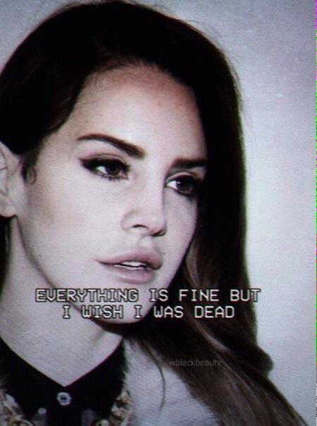 Everything is fine but i wish i was dead #LDR #Dark_Paradise