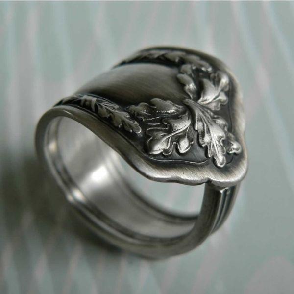 Ring aus Löffel in antiker-Optik basteln Tipps