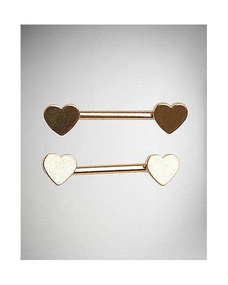 Heart Barbells - 14 Gauge - Spencer's