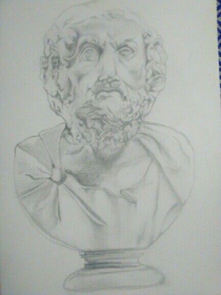 Greek sculpture. Drawing