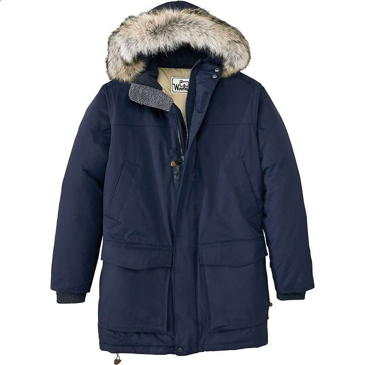 Woolrich Mens Patrol Down Parka - Large - Deep Navy