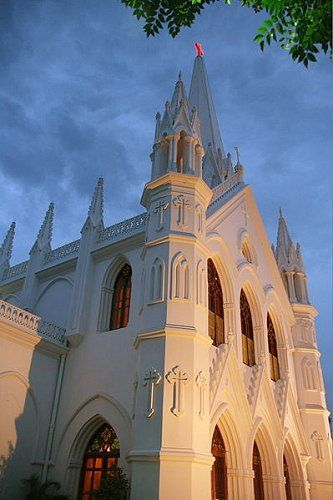 Basilica of San Thomé, Chennai. Apostle Thomas is believed to have brought Christianity to India about AD 70.