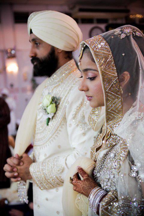 the punjabi bride in white :) So rare to see
