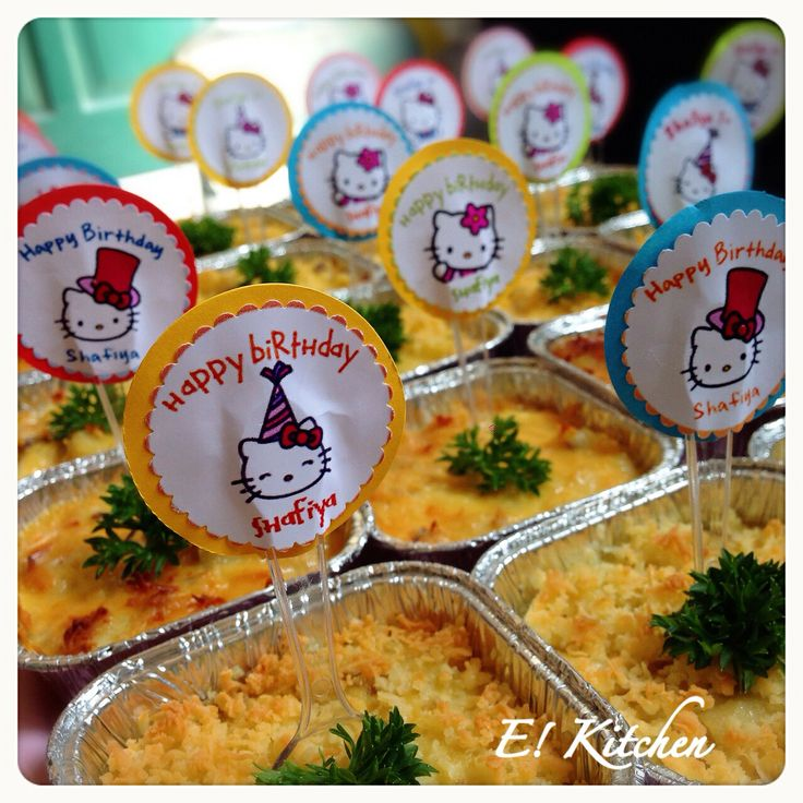 Mini Macaroni Schotel for Shafiya 1st Bday Party  #ekitchen #macaronischotel #homemade #handmadebyme