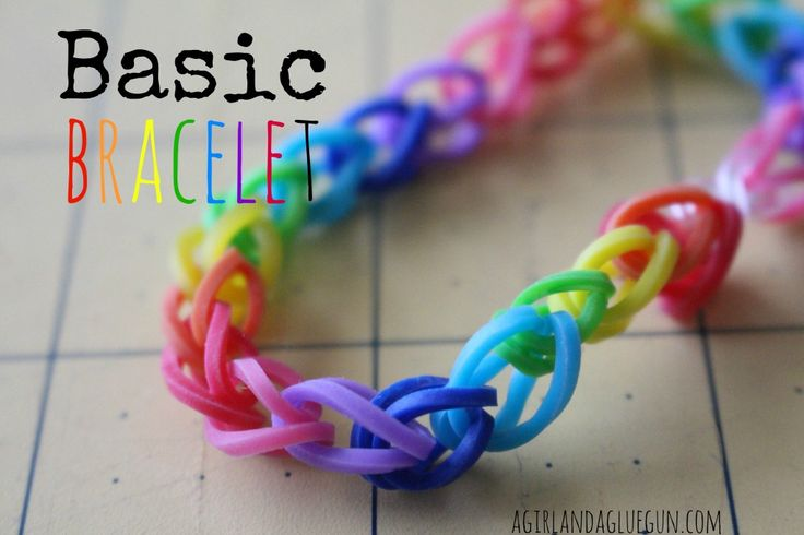 basic rubber band bracelet how to without the loom