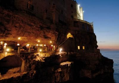"""I Ristoranti / Hotel Polignano a mare Ricevimenti Polignano a mare HOTEL RISTORANTE GROTTA PALAZZESE Polignano a mare Bari Puglia"""""""