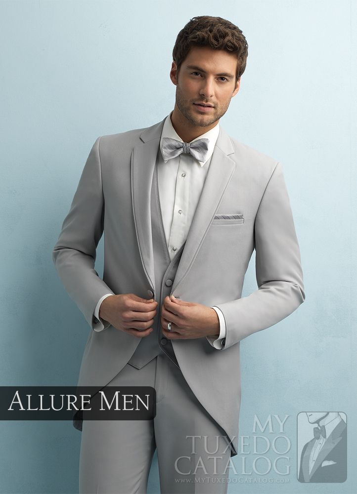 Asheville Tuxedo by Mitchell's - 'Darcy' - Cement Grey - Cutaway - Allure Men - Slim Fit