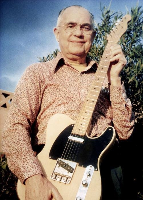 Leo Fender. My mother-in-law worked for him in Fullerton in the late 50's.