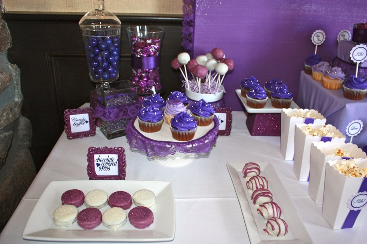 Such a cute dessert bar! I lovvvvve purple!
