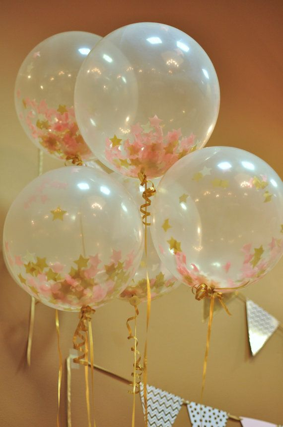 Best 25 confetti balloons ideas on pinterest clear for 7 star balloon decoration