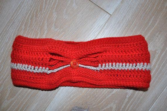 scaldaorecchie colore rosso e grigio per di AlwaysLoveAffairs