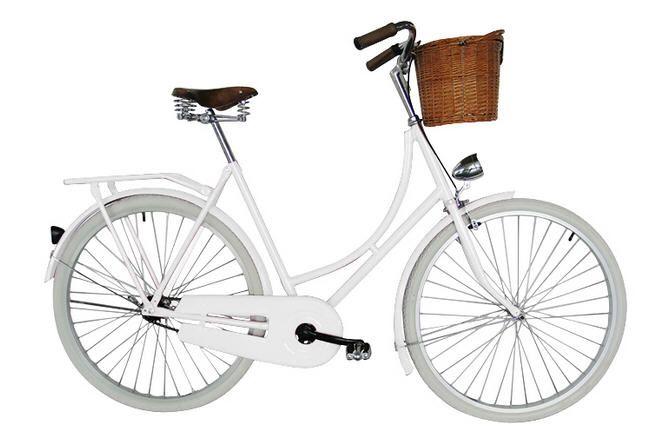 Vélo de ville hollandais homme/femme - pneus blancs avec panier prix promo PrivateFloor 145.00 € TTC Prix non Abonné : 217.50 €