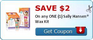 SAVE $2.00 On any ONE (1) Sally Hansen® Wax Kit