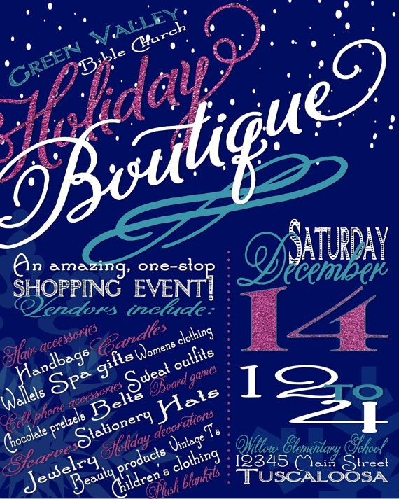 Holiday Craft Boutique Fair Show Flyer Poster Advertisement