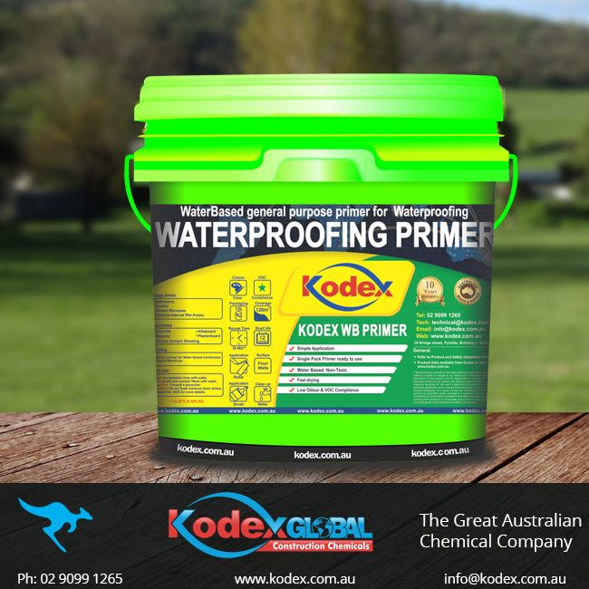 Prime your masonries, fibre cement sheeting surfaces and concrete with environment friendly, water based primer which forms pink sealed surface after drying. It is best suitable for the application of water based membranes. To know more click: http://www.kodex.com.au/wp-content/uploads/2015/02/Kodex-Waterbased-Primer.pdf  #Primer #Waterproofing #WaterproofingMembrane #WaterproofingPrimer