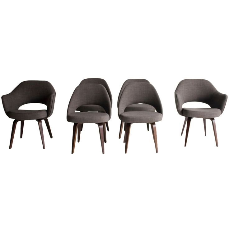 Eero Saarinen Executive Chairs with Wood Legs for Knoll International | the perfect dining room chair
