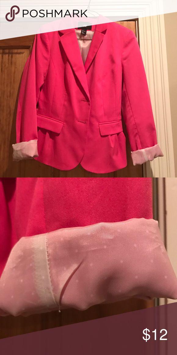 Blazer Hot pink blazer with padded shoulders H & M Jackets & Coats Blazers