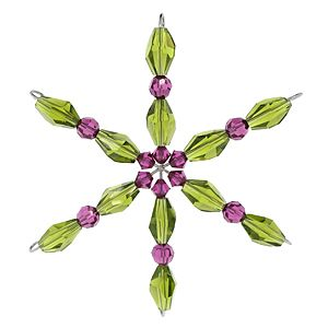 Sassy Snowflake   Fusion Beads Inspiration Gallery