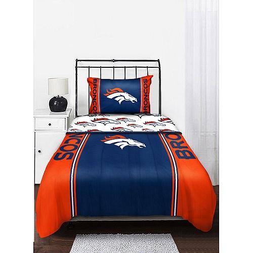 Nfl broncos bedding set random pinterest for Denver broncos bedroom ideas