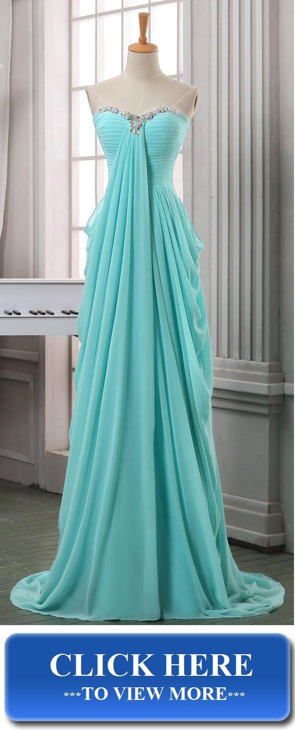 Dresses ... Baby blue chiffon long prom dress