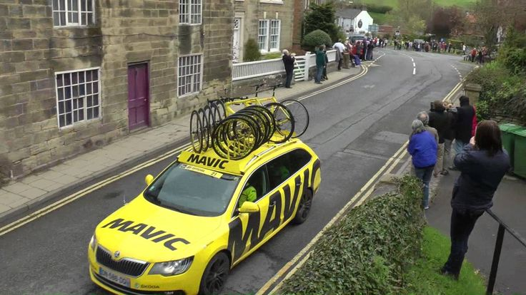 Many people on Bikes (Tour de Yorkshire 2016 at Ruswarp section)