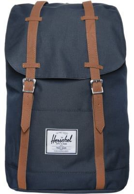 Herschel RETREAT - Ryggsäck - navy/tan - Zalando.se