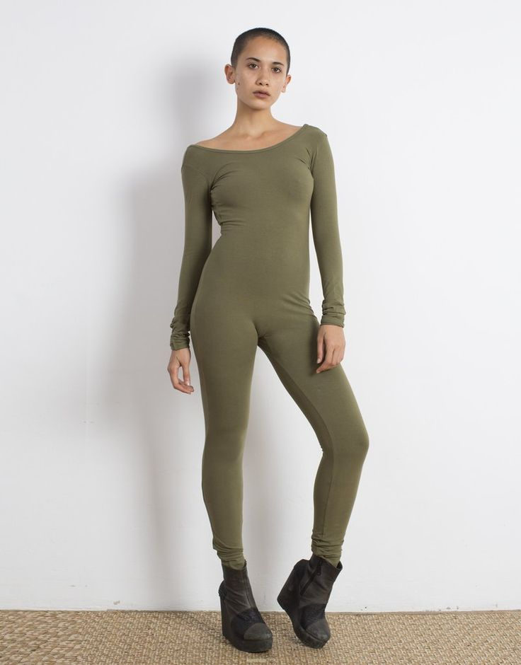 Olive Catsuit Organic Cotton