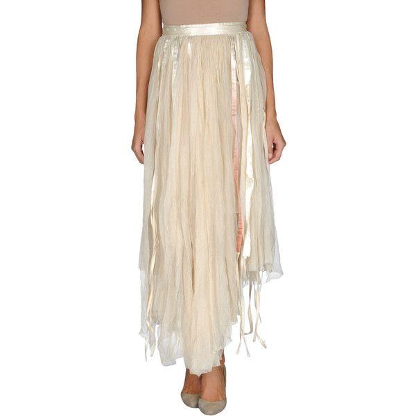 FELICITY BROWN Long skirt ($365) found on Polyvore featuring women's fashion, skirts, pink a line skirt, floor length skirt, lace up skirt, a line maxi skirt and zipper skirt