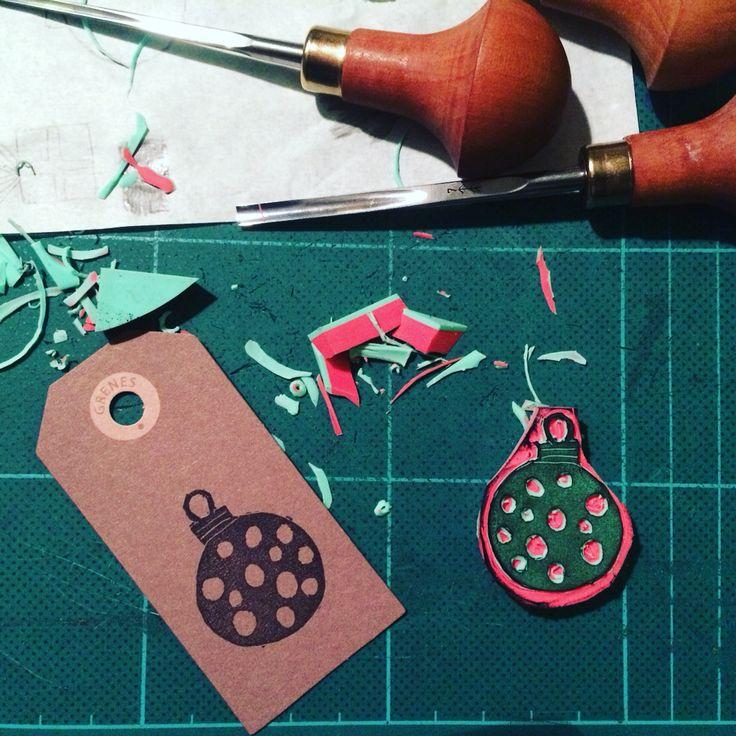 Homemade Christmas giftcard stamp...