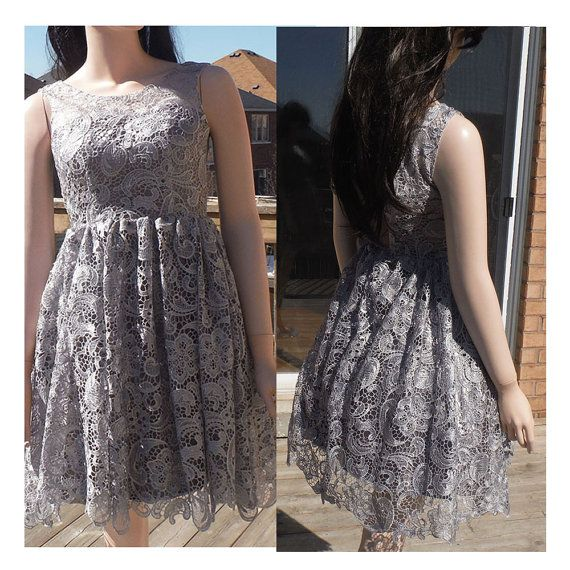 Grey bridesmaid dress rustic bridesmaid dress gray by HolliexKate