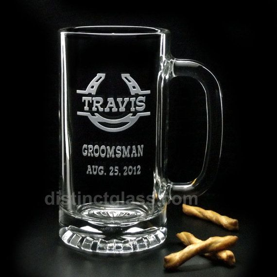 Take your Western-Themed Wedding to the next level with Personalized Horseshoe Beer Mugs. Give your Best Man and Groomsman (heck the entire wedding