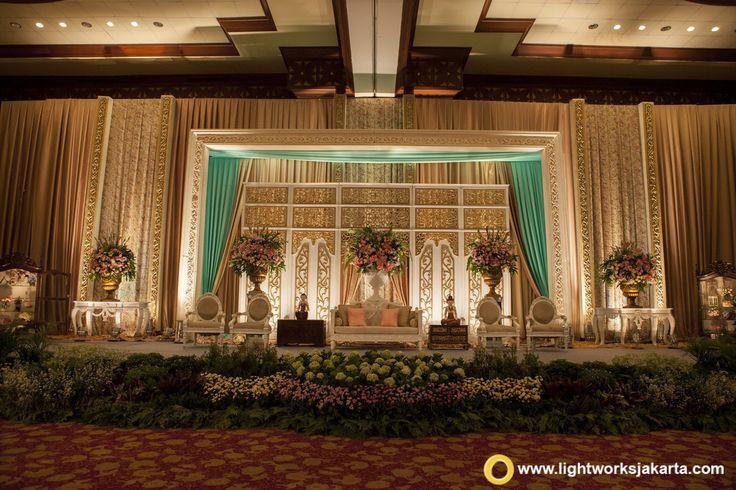 The Javanese Wedding  Nia and Yozar's Wedding Reception | Venue at Balai Kartini Rafflesia Ballroom | Decoration by Elssy Design | Lighting by Lightworks  www.lightworksjakarta.com