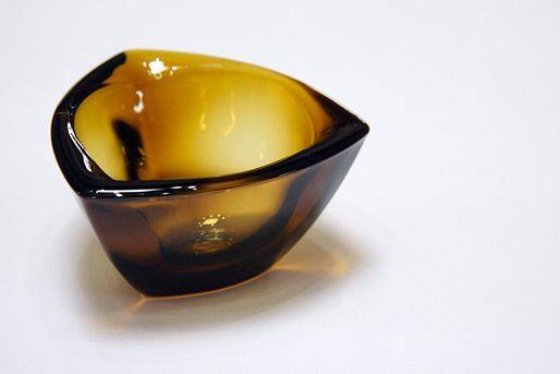 Kaj Franck Nuutajarvi Notso Haransilma Triangle Glass Bowls