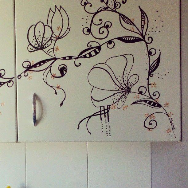tea break wallpainting by kaju.ink