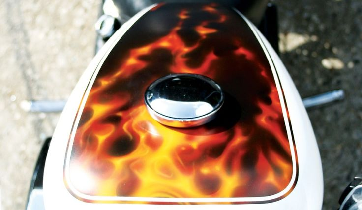 Harley Davidson - real flames - by aerosolove