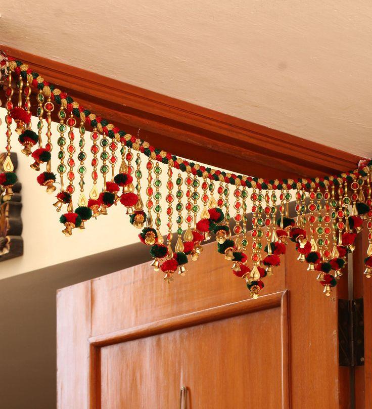 JKK Mart Multicolor Fabric Door Bandhanwar Toran Door Hangings 10 Pieces