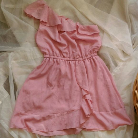 Candie's one strap dress Carnation pink one strap dress. Cute for spring/summer. Candie's Dresses One Shoulder