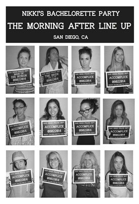 """Photo Props!  Bachelorette Photo Props!  Bachelorette Mug Shots!  Now on sale at www.jdishdesigns.com!  This set includes """"The Bride Not to Be"""", """"The Maid of Dis Honor"""" and """"Accomplice""""."""