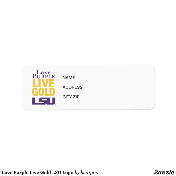 Love Purple Live Gold LSU Logo Label  Get your official Louisiana State University gear here! Personalize your own LSU merchandise on Zazzle.com! Represent your school spirit by customizing these products with your Class Year, name, club, or sport. This Louisiana State gear makes a great gift for graduating seniors, new students, or alumni looking to show off their Tiger Pride.