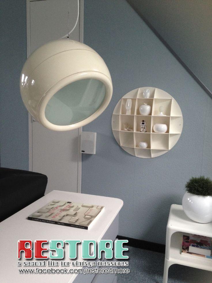 PALLADE A wire suspension lamp designed by Studio Tetrarch for Artemide 1968 diameter 16 inch / 40 cm