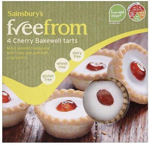 Sainsbury's freefrom Cherry Bakewell Tarts (4 per pack - 190g)