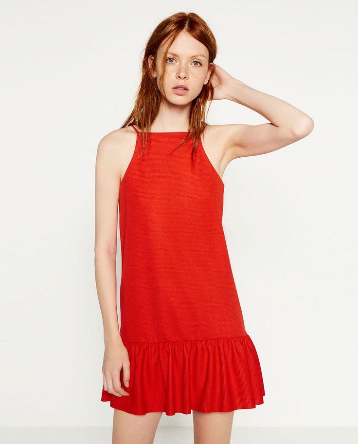 DRESS WITH RUFFLE HEM-View All-DRESSES-WOMAN-SALE   ZARA United States