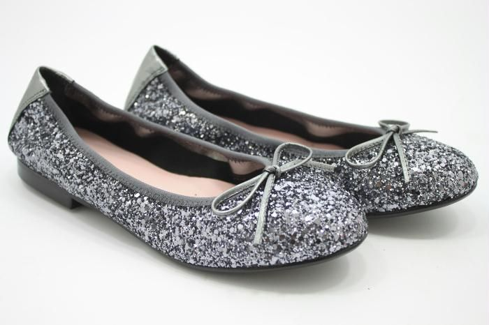 Eli grijze glitter ballerina
