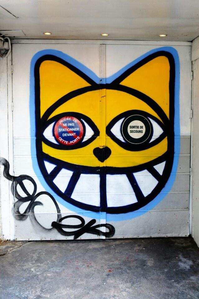 Paris 4 - rue pierre au lard - street art - monsieur chat
