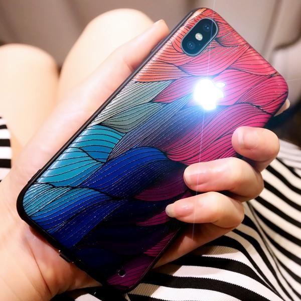 Original Yagoo have Led LOGO phone case for Apple iphone 6 6s 7 8 ...
