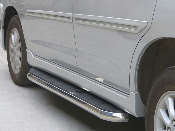GoldSun Auto (P) Ltd., - Manufacturers of Quality Auto Accessories. At GoldSun, we manufacture various range of car accessories like FRONT BUMPER, REAR BUMPER, NUDGE GUARDS, SIDE FOOT STEPS, for TOYOTA INNOVA cars. Now make Your stylish car, Double Protected With GOLDSUN Car Accessories using GFS 301 SIDE FOOT STEP!